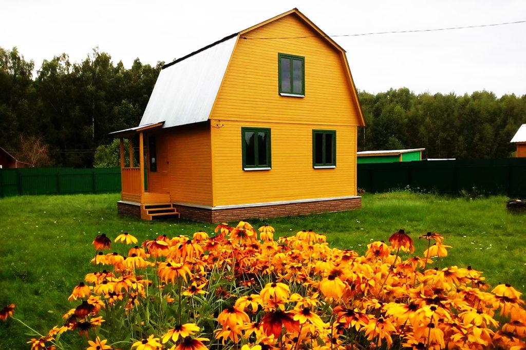 Дача желтый дом